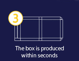 The box is produced within seconds