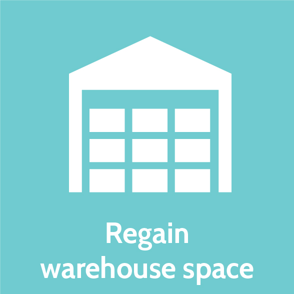 Regain warehouse space